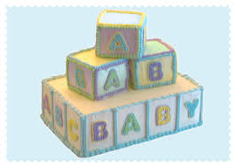 Baby Block Cakes for a Baby Shower