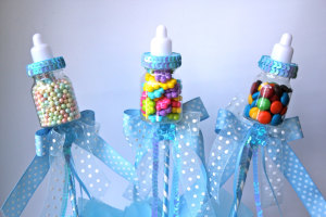 Candy Filled Bottle Babyshower favors