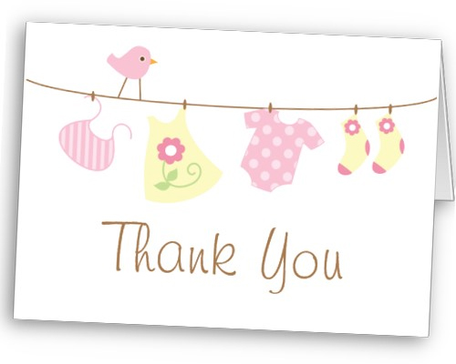 Babyshower thank you cards for Mom
