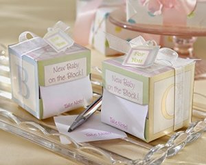 New Baby on The Block Babyshower favor