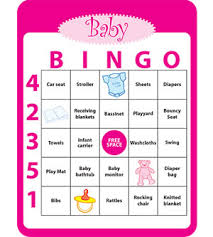 Bingo babyshower game