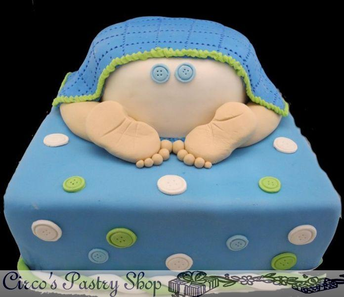 Baby Blanket shower cake for a boy